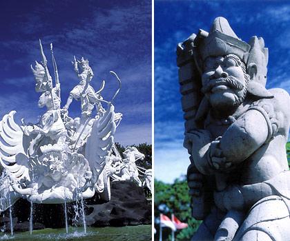 Hindu figures in Bali