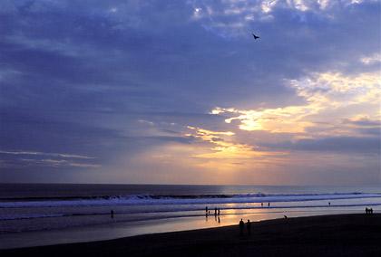 sunset at Kuta Beach, Bali