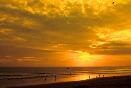 sunrise at a Bali beach
