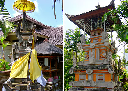 Hindu altars in Bali