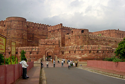 the Agra Fort or Red Fort in Agra