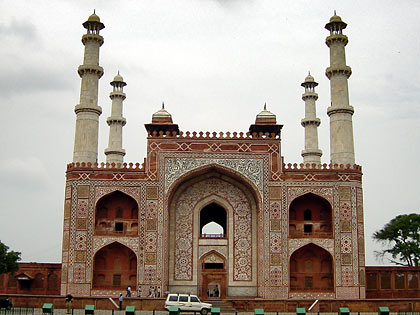 the tomb of Akbar the Great in Sikandra at the outskirts of Agra