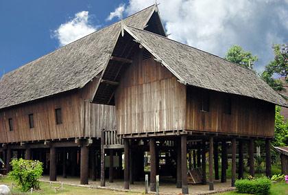 Dayak longhouse at Taman Mini Indonesia Indah, Jakarta
