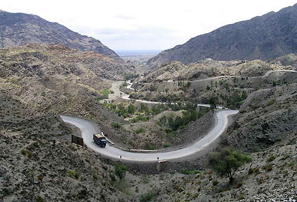 the Khyber Pass in Pakistan