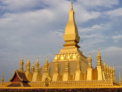 the Pha That Luang in Vientiane, Laos