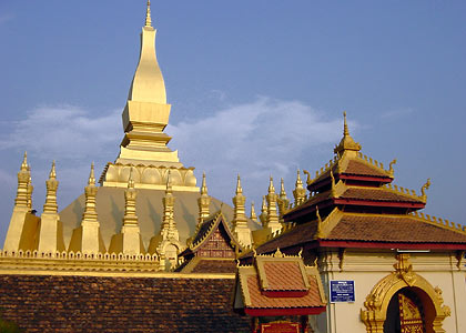 the Pha That Luang and its main gate