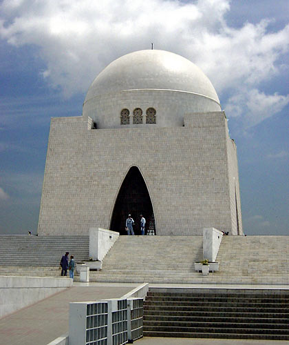 mausoleum of Muhammad Ali Jinnah, the father of Pakistan, in Karachi