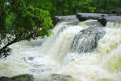 second picture: the Kbal Chhay Waterfalls, Sihanoukville
