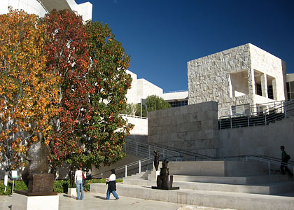 a terrace at the Getty Center