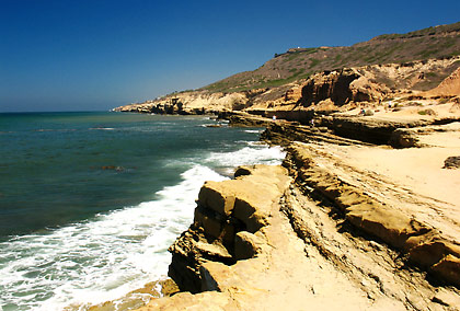 rocky coastline at the Cabrillo National Monument