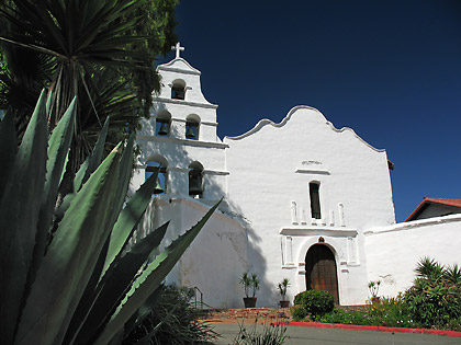 the Mission Basilica San Diego de Alcalá in Mission Valley