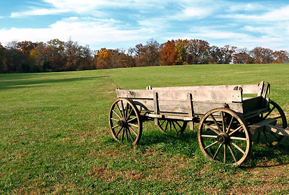 old wagon on George Washington's estate at Mt. Vernon, Virginia