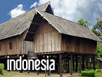 Dayak longhouse, Taman Mini Indonesia Indah