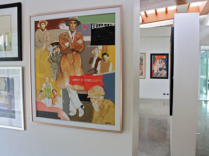 the BenCab Gallery displaying the artist's own works
