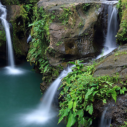 another view of the main or lower Balite Falls, Amadeo, Cavite