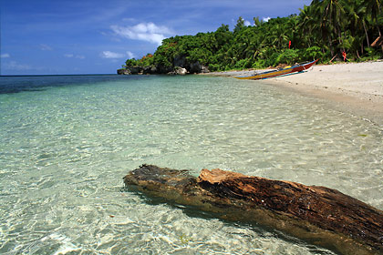 a beach on the western side of Higatangan Island, Biliran