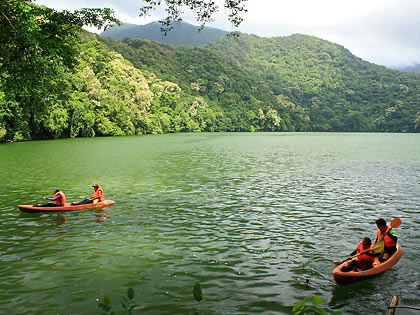 kayakers at Bulusan Lake