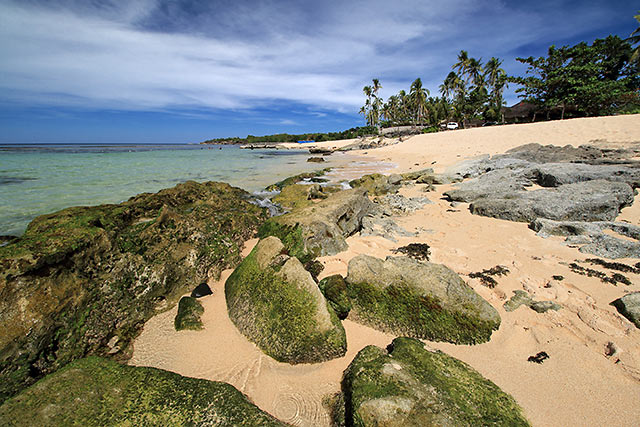 sand and rocks at Cabongaoan Beach