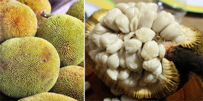 marang fruit: exterior and interior views