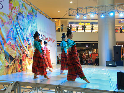 Kadyawan dance performance at a Davao City mall