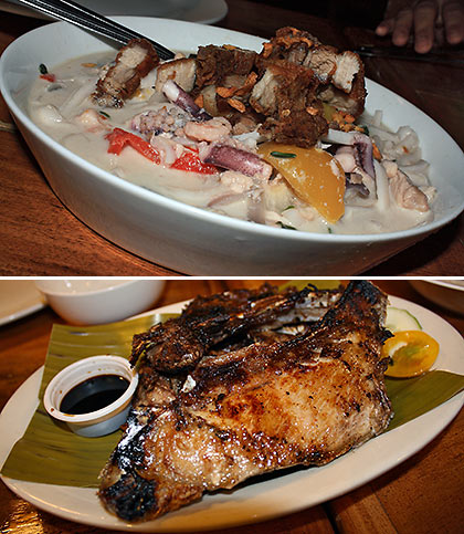 Dumaguete Express and grilled tuna jaw from Lab-as Seafood Restaurant
