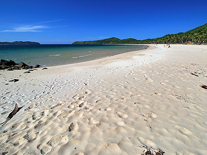 the white sand of Nacpan Beach