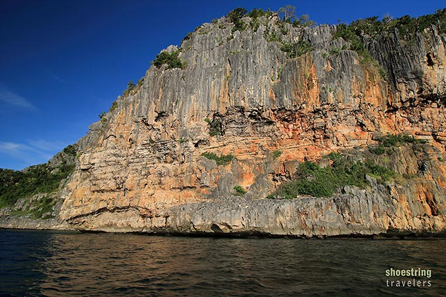 karst formations at Gigantes Sur