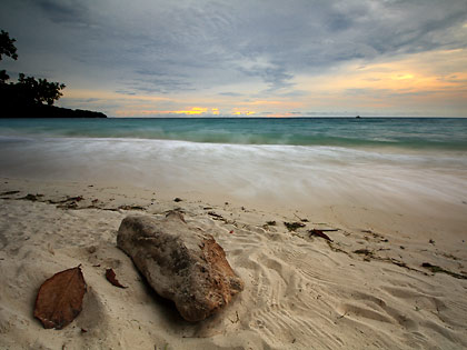 sunset at Saranggani Bay, viewed from Gumasa Beach