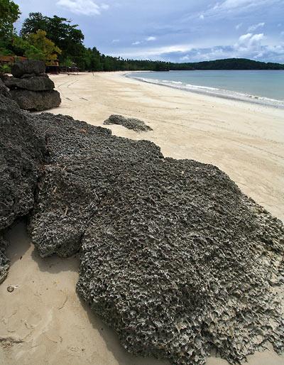 beachfront of Rosal Beach Resort, Gumasa Beach