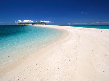 the sandbar at Kalanggaman Island