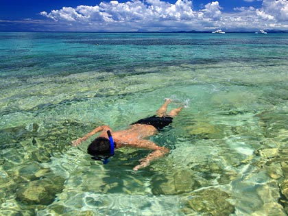 snorkeling at Kalanggaman