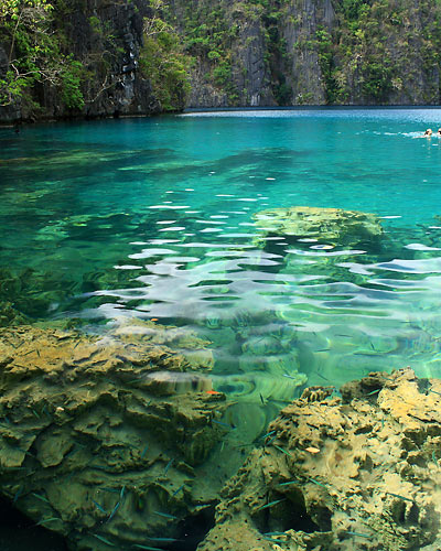 Kayangan Lake's crystal-clear waters