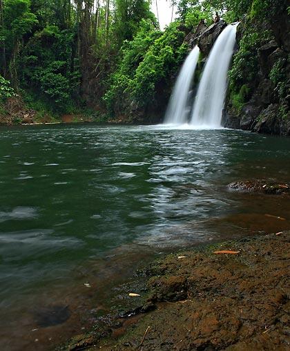 Bunga Falls in Nagcarlan has a deep catch basin