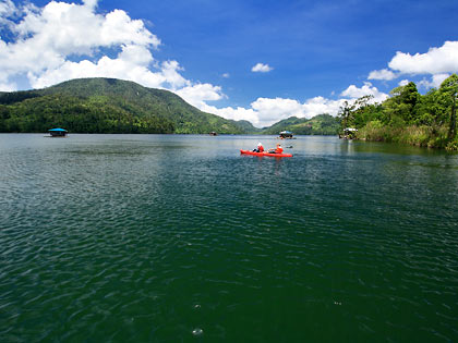 red kayak at Lake Danao