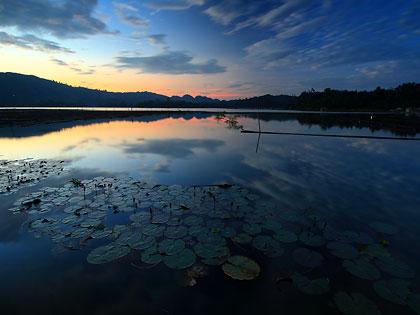 sunset at Lake Sebu, Estares Lake Resort