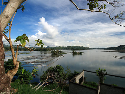 view of Lake Sebu from a local government office near the top of a hill