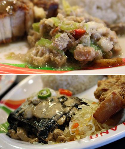 Bicol Express and pinangat or laing