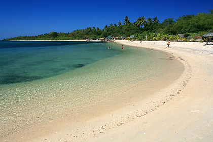 beach scene in front of Armada Resort, Magalawa Island