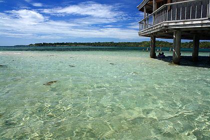 sandbar and resthouse off San Salvador Island, Masinloc, Zambales