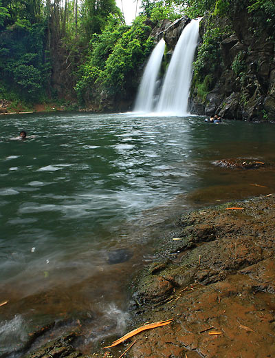 Bunga Falls and rocks, Nagcarlan, Laguna