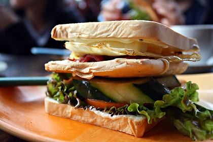 sandwich at Bana's Cafe