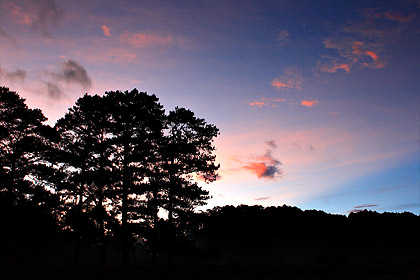 sunrise in Sagada viewed from George's Guesthouse
