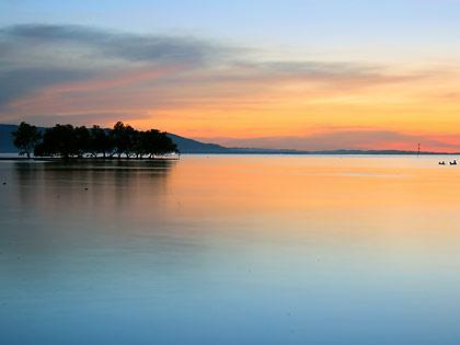 sunset at Sandugan Beach, Larena