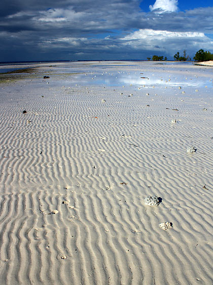 sand ripples during low tide at Sandugan Beach