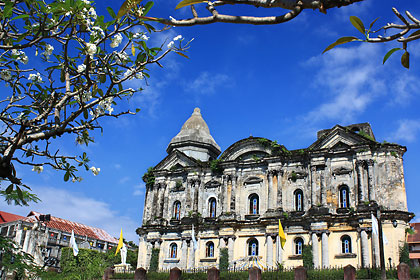 the Basilica of St. Martin of Tours in Taal town, Batangas