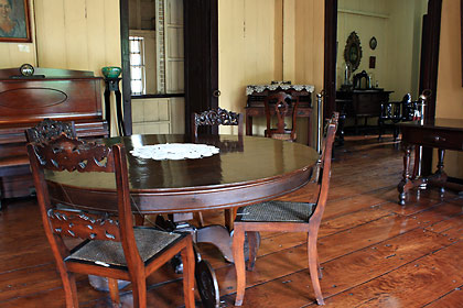 interior of the Dona Marcela Agoncillo Houuse/Museum in Taal town