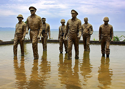 the Leyte Landing Memorial in Palo, Leyte
