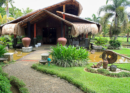 the restaurant at Rafael's Farm, Babatngon, Leyte