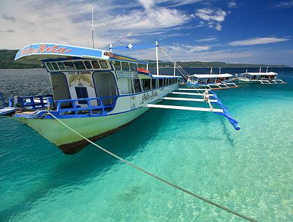 Isla Reta's own boat resting