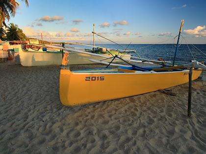 boats at sunset, Tambobong Beach